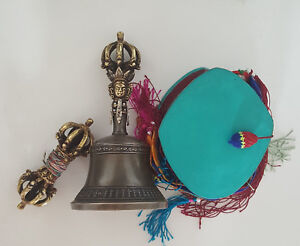 Details about Tibetan Buddhist 9 Pronged Bronze Bell 7 5