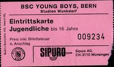 Ticket 02.08.1985 Botafogo Rio de Janeiro, Servette Genf, Young Boys Bern, BMG