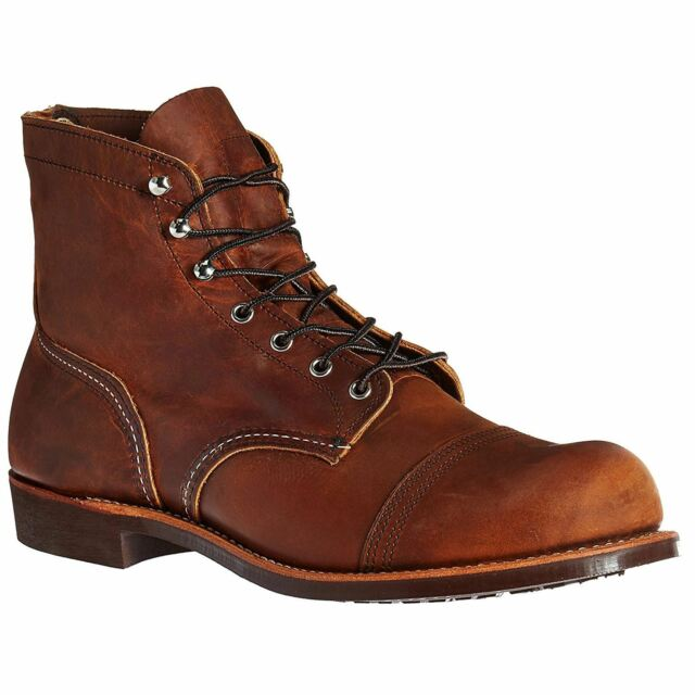 b3def5cce95 Red Wing Shoes 8085 Iron Ranger BOOTS Copper Rough & Tough Brown Leather  EUR 43