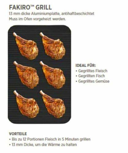 UNOX Backblech FAKIRO GRILL GN 1//1 VE=2 Stück Grillplatte, Teflon beschichtet
