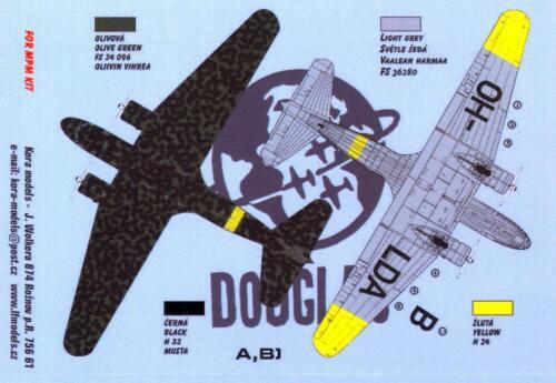 KORA Decals 1//72 DOUGLAS DC-2 IN FINNISH SERVICE