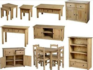 Seconique-Panama-Pine-Living-Furniture-Dining-Coffee-Tables-Bookcase-Sideboard