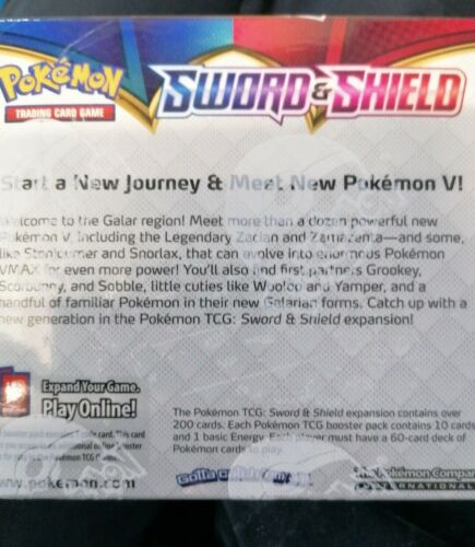 Pokemon Sword & Shield Booster Box of 36 Packs | New and Sealed Cards (Base Set)