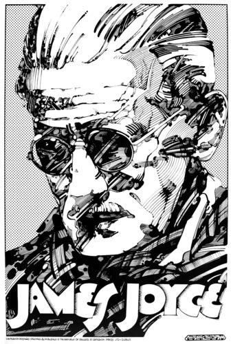 "JAMES JOYCE IRISH WRITER Signed Print by Jim FitzPatrick A4 11/""x8/"" IRELAND"