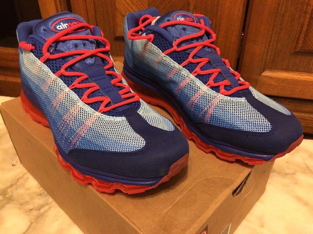 RARE  Nike Air Max '95 DYN FW Ultramarine Solar Red Sz 9 554715-464 Dead Stock