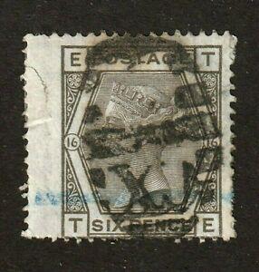 Great-Britain-stamp-62-used-Plate-16-Queen-Victoria-1865-SCV-70