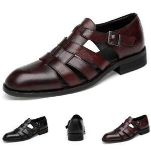 Men's Dress Formal Sandals Shoes Hollow