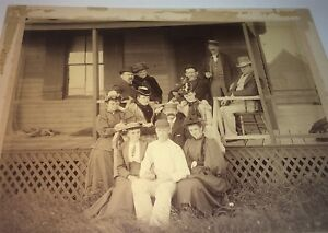 Antique-Victorian-Western-American-Fashion-Outdoor-Porch-Group-Cabinet-Photo-US