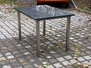 Terrassentisch k chentisch gartentisch untergestell for Terrassentisch granit