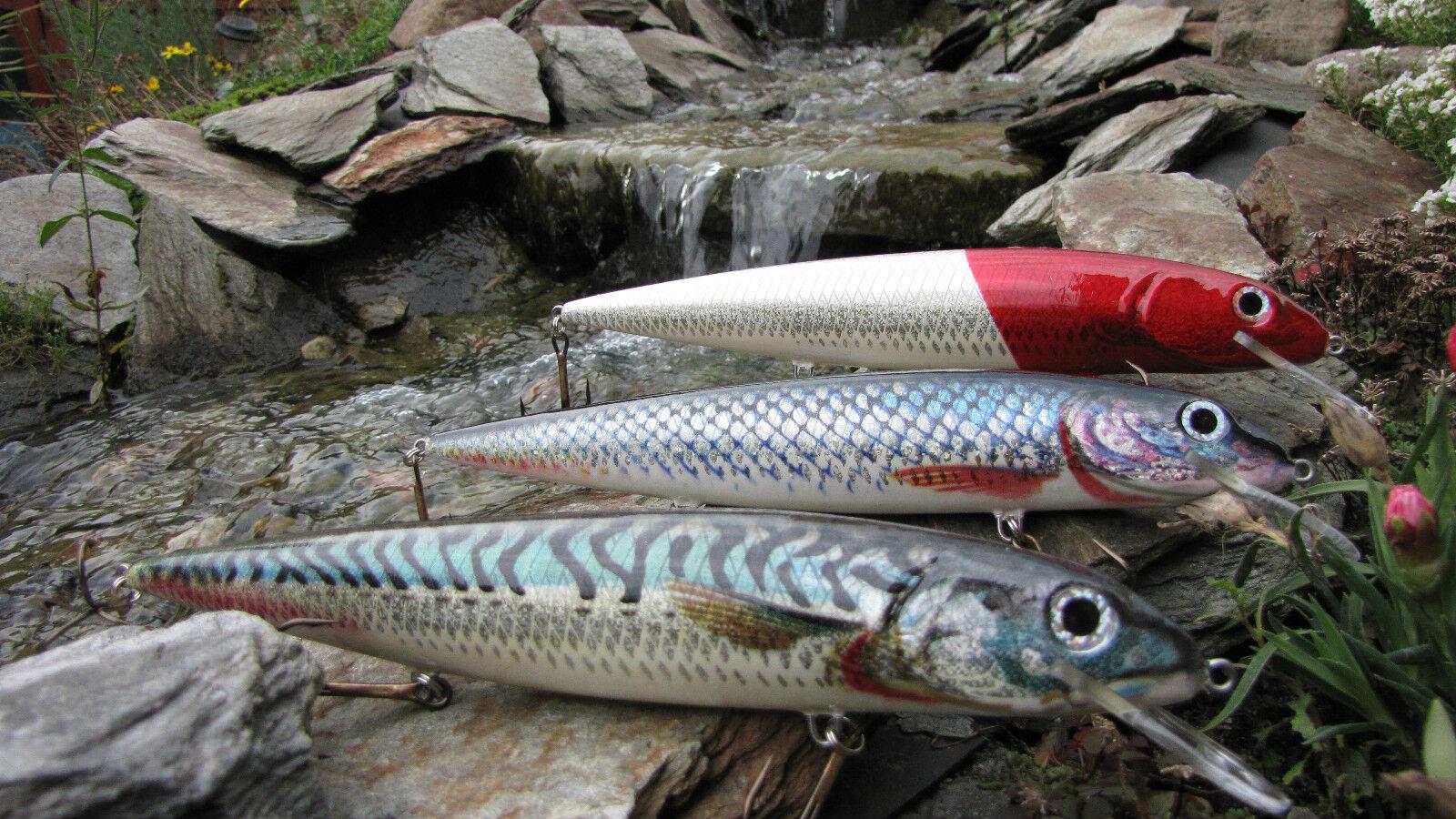 3 x Jaxon Lure Wobbler HOLO selezionare pesce MAX 25 cm per gestione prezzo HIT!!!