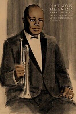 Louis and Joe 18 x 12 New! Clifford Faust Jazz Art Print