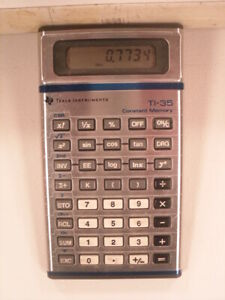 TI-35 Texas Instruments Calculator with Constant Memory USA Made