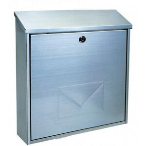 Image Is Loading Large Stainless Steel Bologna Letter Mail Post Box