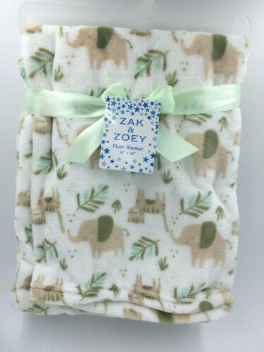 Baby Blanket w// Animals Boys Girls 30x40 L28 M Soft Infant Unisex Shower Gift