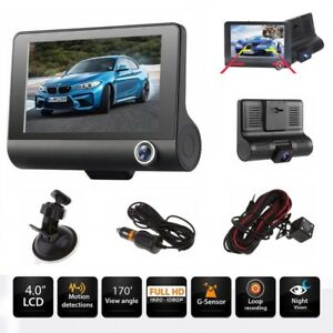 Dual-Lens-Camera-4-Full-HD-170-1080P-Car-DVR-Dash-Cam-Recorder-G-Sensor