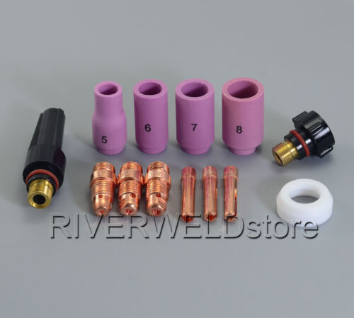 TIG Short Collet Body 17CB20 18CG20 10N24S /& WP 17 18 26 TIG Welding Torch 13pcs