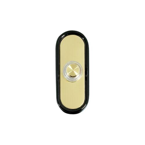 Friedland Mesa D639 DOOR BELL PUSH Button Illuminated in Brass for Wired Bells