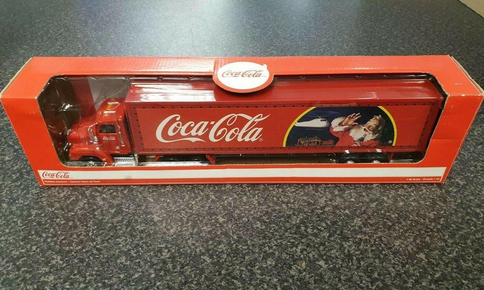 (Pa2) Coca-Cola  Vacances voitureavane Camion, échelle 1 43, Comme neuf in box, die cast, Lumières  pas de minimum
