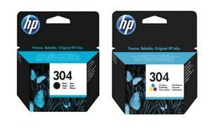 Genuine HP 304 / Black / Colour Ink Cartridges For DeskJet ...