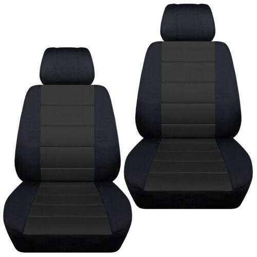 Front set car seat covers fits 2016-2019 Subaru Crosstrek    black and charcoal