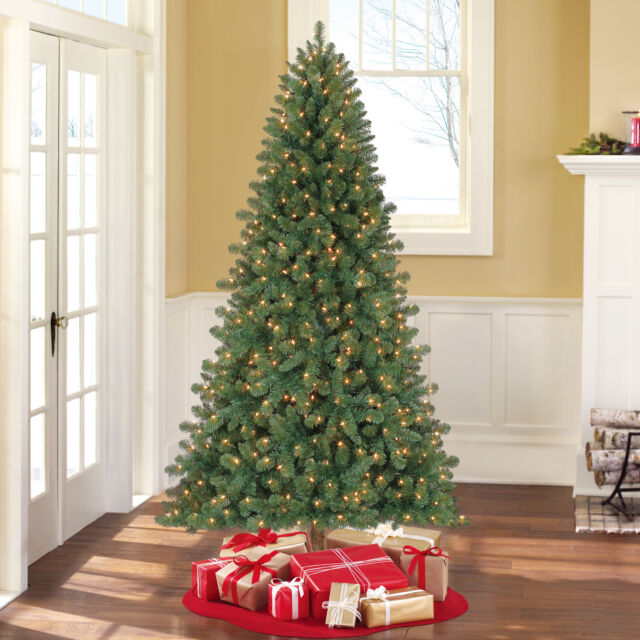 Holiday Time Pre Lit 7 Duncan Fir Artificial Christmas Tree Clear Lights