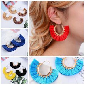 Bohemian-Long-Tassel-Earrings-Boho-Semi-Circle-Hoop-Dangle-Fringe-Women-Jewelry