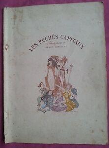 LES-PECHES-CAPITAUX-Poemes-illustres-par-Henry-DETOUCHE-ART-NOUVEAU-Symbolisme