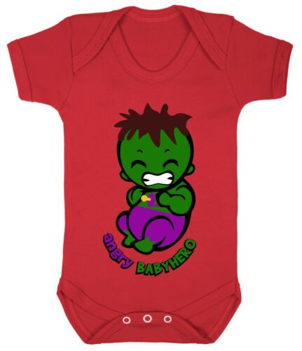 Hulk little Angry Superhero 0-24 Funny Baby Shower Gift Costume Bodysuits Son