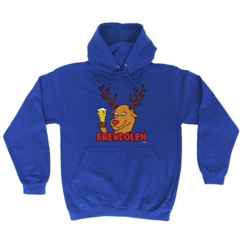 Funny Novelty Hoodie Hoody hooded Top Brewdolph