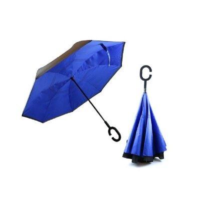 Utile Vu à La Télé !!! Parapluie Inversé Grand Vent Avec Poignée Confort 110 X 80 Cm Un Rimedio Sovranazionale Indispensabile Per La Casa