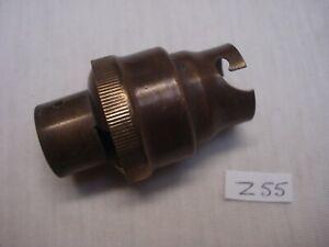 1 Douille B22 Ancienne Laiton Chemise Lisse Pas Non Standard M14 (réf Z55)