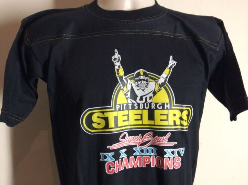 497176397ab9b5 durable service Vtg 1980 Pittsburgh Steelers Super Bowl XIV Champions  Jersey T-Shirt S 80s