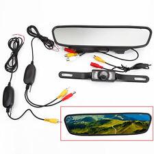 "4.3"" Car TFT LCD Monitor Mirror Wireless Reverse Car Rear View Backup Camera Kit"