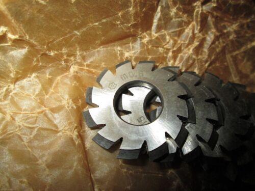 8PCS USSR Involute Gear Cutter Set M 0.6 20° HSS N1..N8