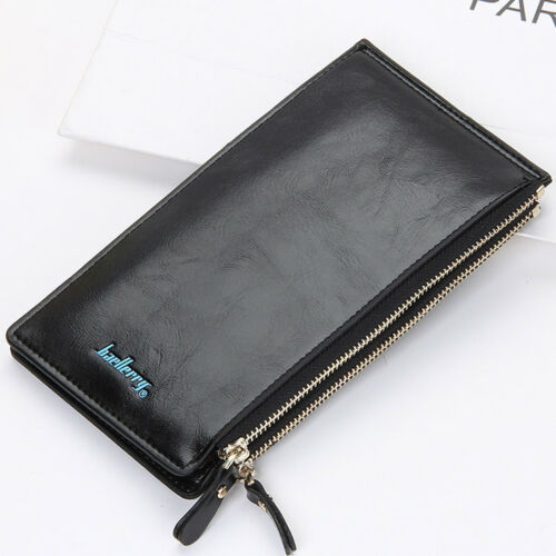 Cuir Portefeuille Long Véritable Baellerry busisness carte de crédit Argent Titulaire Sac à main