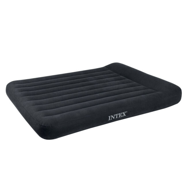 Intex Classic Inflatable Dura Beam Air Mattress Bed with Pump Used Full