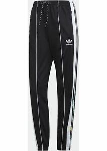 Adidas-Originals-TRACK-PANTS-FLORAL-Pantalone-tuta-donna-con-riporti-colorari