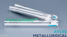 5x Pure Magnesium Mg Element Rods Ingots Bars 99.9% HK Laboratory 5/8in x 5in
