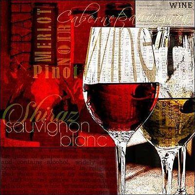 Lisa Wolk: Wine Defined Keilrahmen-Bild Leinwand Wein rot modern Küche Esszimmer