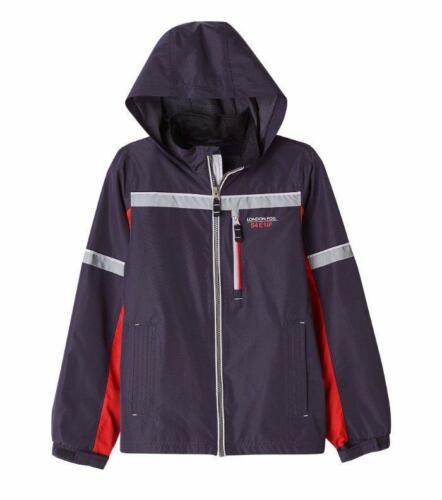 LONDON FOG® Boys/' 4 5//6 Tricot Lined Water Resistant Colorblock Jacket NWT