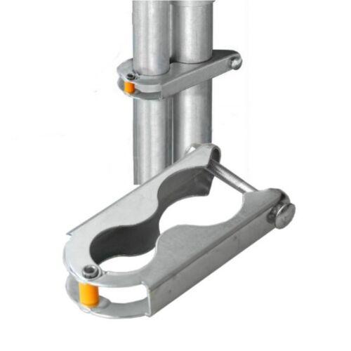 Sicherungsklammer zur Montage der Netzstange am Grundgestell des Trampolin