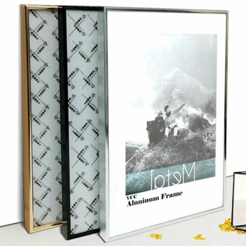 Metal Picture Frame A3//A4 Classic Aluminum Wall Hanging Photo Certificate Holder
