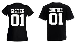 Brother-amp-Sister-T-Shirt-Set-Geschwister-Beste-Freunde-Bruder-DOPPELPACK