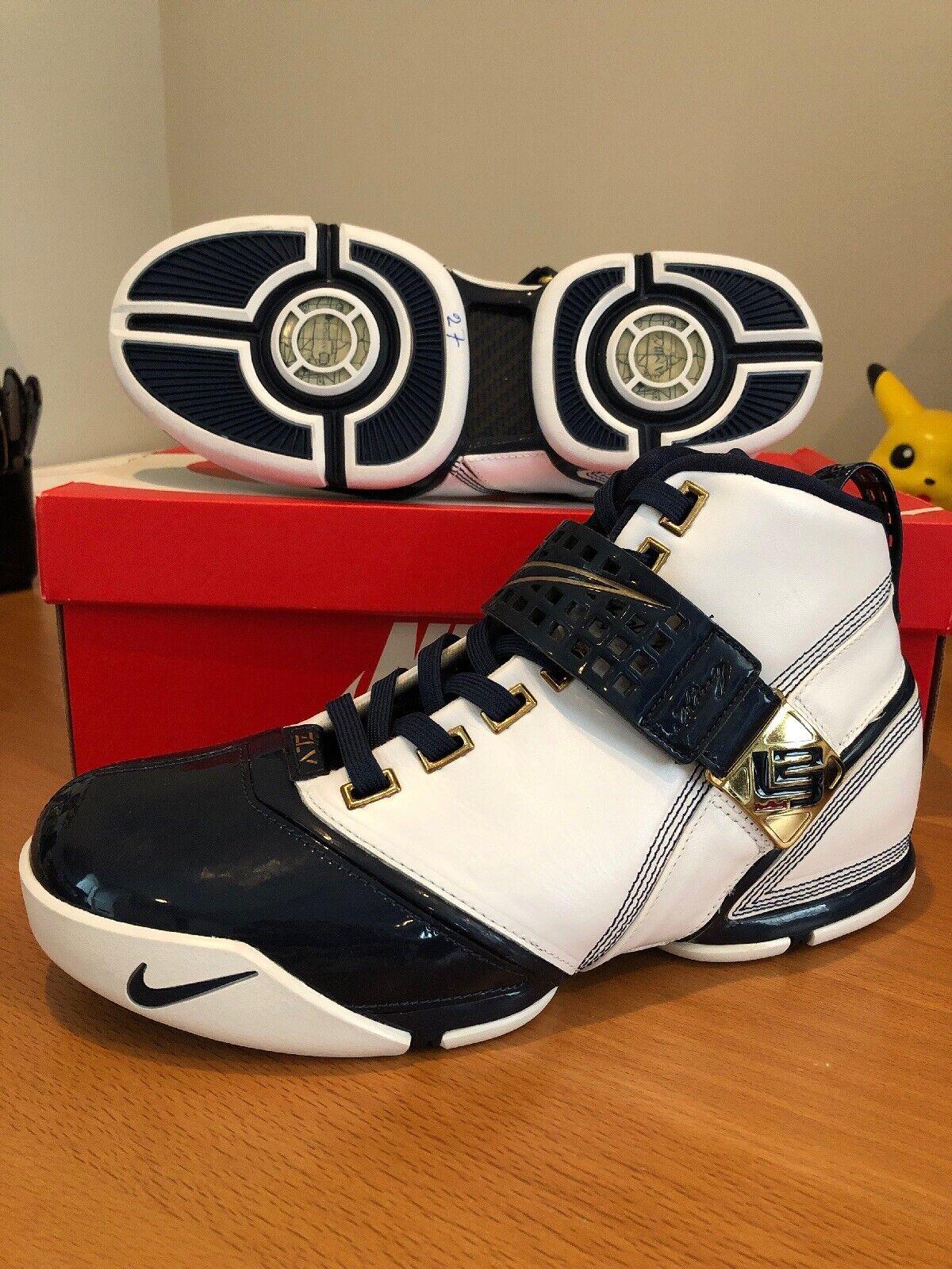 Nuevo Nike LeBron V 5 Zoom Original Air Olympics 2007 Akron King James oro Penny Talla 9.5