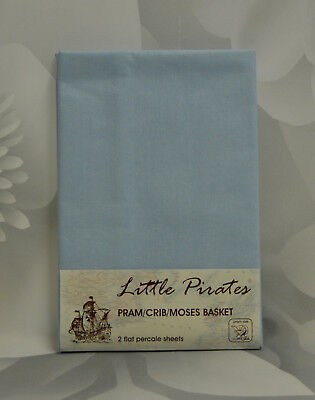 2 x Baby Pram//Crib// Moses Basket Jersey Fitted Sheet 100/% Cotton Cream 40x90cm