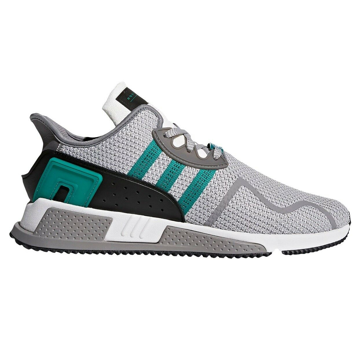 Adidas EQT Cushion ADV Mens AH2232 Grey Sub Green White Running Shoes Size 9