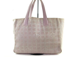 7576e3ea6da591 Auth CHANEL Travel line Canvas, Leather Pinks Tote bag CT7154L | eBay