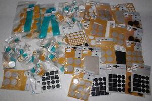 50-x-Packs-Packungen-Filzgleiter-selbstklebend-Filz-Gleiter-Restposten-Baumarkt