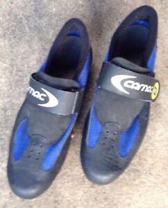 Carnac-UCS6-para-Hombre-Zapatos-De-Ciclismo-Bicicleta-Talla-45-euros-Francia-Azul-Negro-defectos
