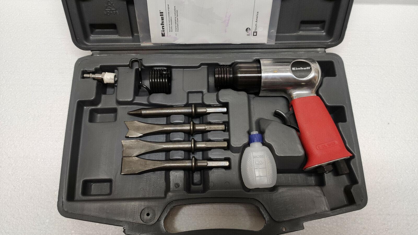 UVP49,95 Einhell DMH 250//2 Druckluftmeißel Set Meißelhammer Stemmhammer Kfz